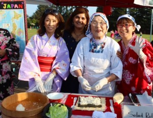 Great-grandmother of Cherry Chase students visiting from Japan