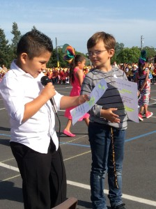 San Miguel students introducing dances at the Multi-cultural Dance Festival