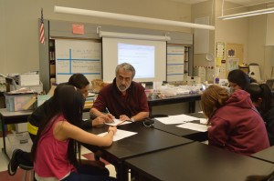 One of Mr. Badaoui's small group instruction times