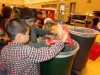 Lakewood Lions separate compostable waste from trash and recycling.