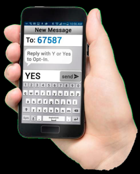 Text YES to 67587