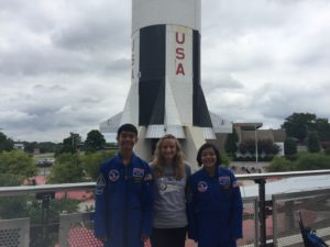 Treyton Kealalio-Puli, Julia Shotwell, and Marely Esquivel attend Space Camp in Alabama this summer via a Northrop Grumman sponsorship.