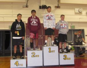 Eighth grader Branden Bulatao finishes second in county wrestling tournament