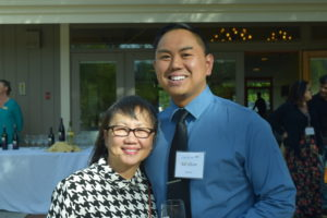 Rob Felicano with his mother at the Acknowledge Alliance Forget-me-Not Awards ceremony.