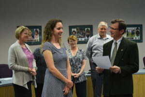 Swearing in ceremony for newest board member