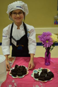 Fairwood students showcases her winning dish, sugarless brownies