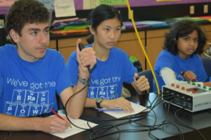 SMS science bowl club have buzzers in hand to answer rapid fire questions