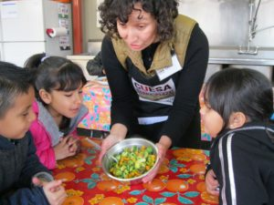 Students learn healthy recipes