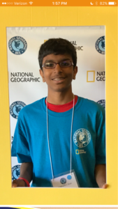 SMS student Siddarth Shah made it to state finals for National Geographic Geography Beet