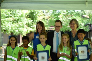 Students recognized at State of the City event for composting efforts