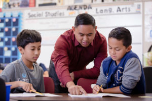 Columbia Middle teacher connects with summer school students