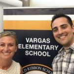 New Vargas Assistant Principal John Austin poses with Principal Kathryn Armstrong