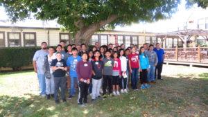 students tour the Northrop Grumman grounds