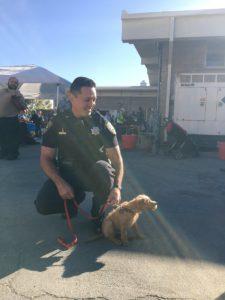 Lieutenant Jose Ramirez at a community pancake breakfast event