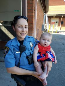 CSO Norma O'Connell with her 9-month-old daughter
