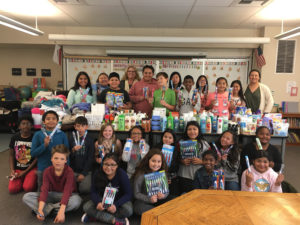 Ellis students collected items needed for the local homeless shelter this winter