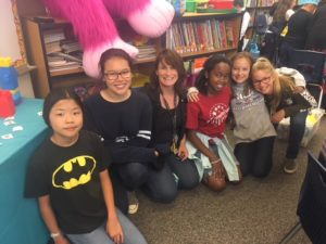 high school and elementary come together to read