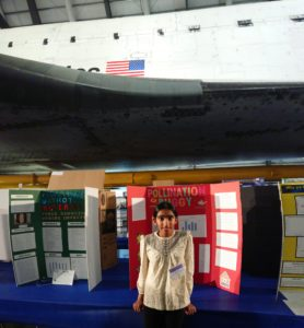 SMS sixth graders Wyndia at science fair