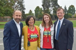 Senator Hill with Principal Mourtos, Assistant Principal Carlson and Superintendent Picard