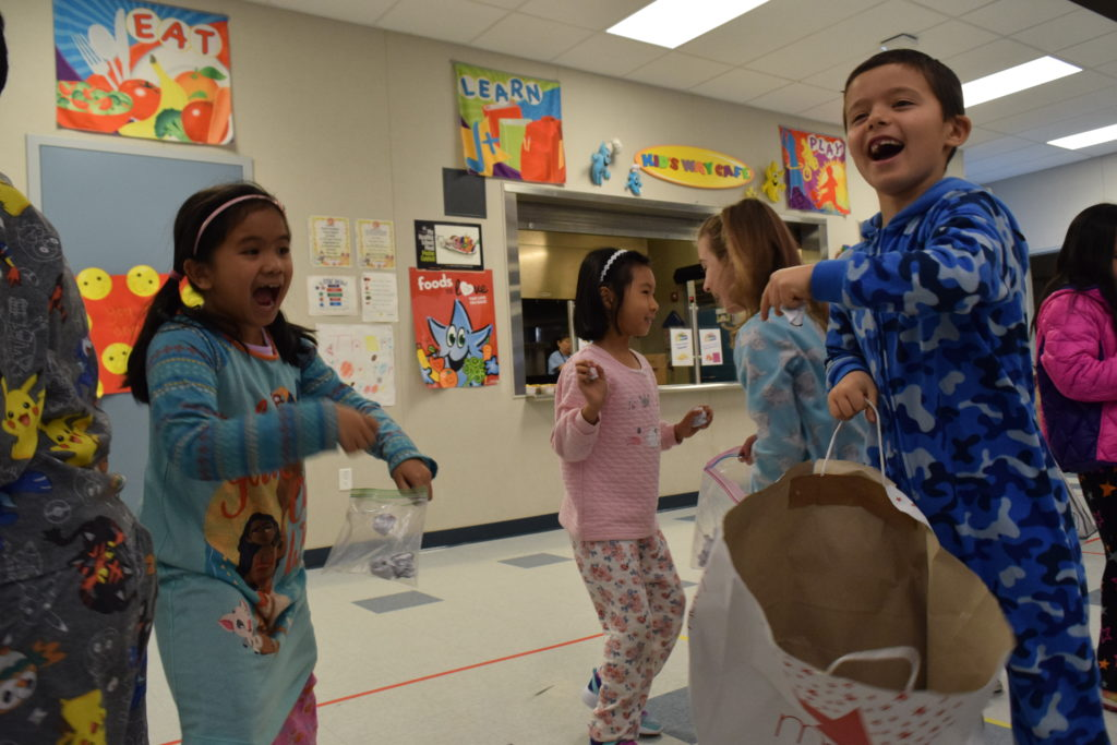 """first grade throw crumpled paper in """"snowball fight"""""""