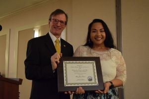 superintendent picard and outstanding educator mary grace votran at the Murphy Awards
