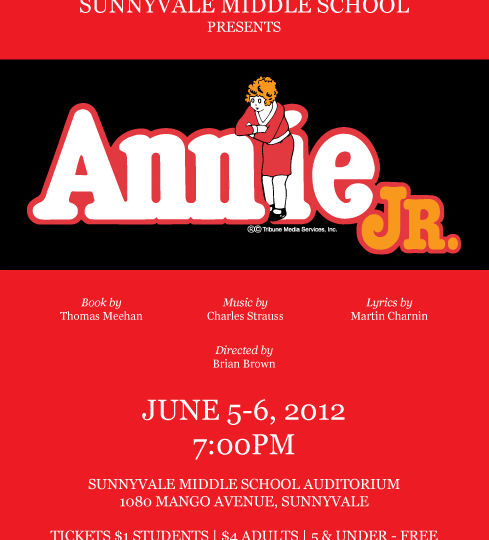 Annie Jr. at SMS - June 5th and 6th