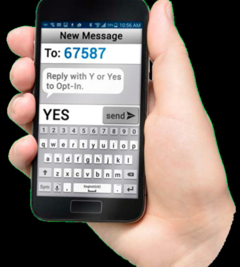 text message on smartphone