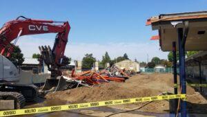 Ellis school building demolition