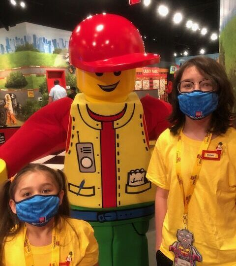 brother and sister as Lego ambassadors